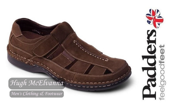 Men's Standard Fit Brown Leather Sandle By Padders Style: Breaker - Hugh McElvanna Menswear