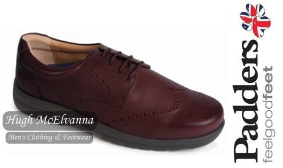 Mens Padders Laced Brogue EXTRA WIDE FIT Style: Dominic - Hugh McElvanna Menswear