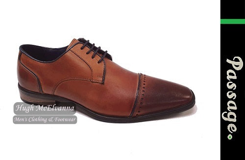 Tan Laced Brogue Shoe by Passage Style: JONAH