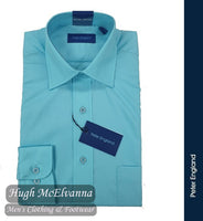 Peter England Pride Aqua Long Sleeve Shirt Style: PE9010