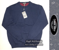 Cotton Round Neck Pullover by Peter Gribby Style: PK18220 - 2 Colour Options Available - Hugh McElvanna Menswear