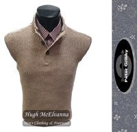 3 Button Rice Weave Pullover by Peter Gribby Style: PK17208 - 2 Colour Options