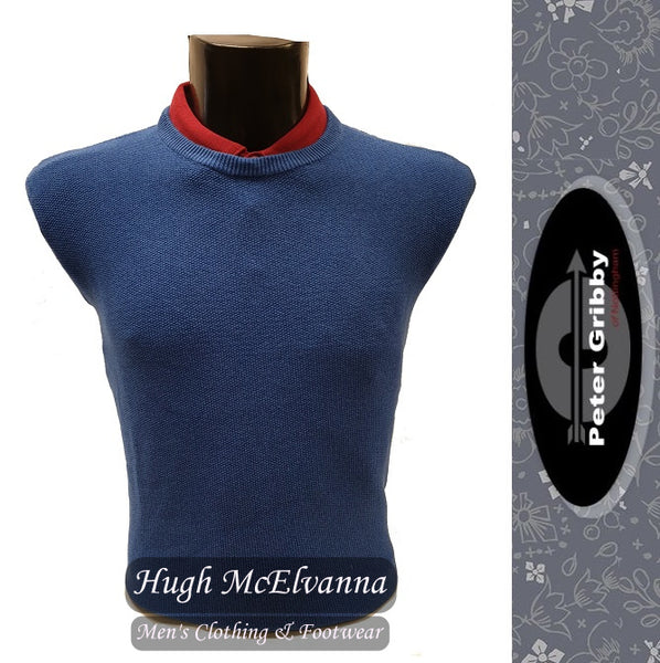 Crew Neck Rice Stitch Pullover by Peter Gribby Style: PK19101 ( 3 Colour Options Available ) - Hugh McElvanna Menswear