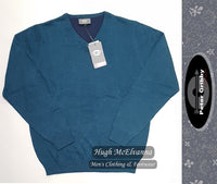 Cotton V-Neck Pullover by Peter Gribby Style: PK18219 - 2 Colour Options Available - Hugh McElvanna Menswear