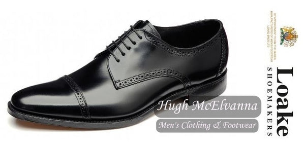 REEVES Black Goodyear Welt Shoe by Loake Shoemakers - Hugh McElvanna Menswear