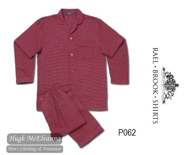 Standard Fit Check Brushed Cotton Pyjama Set by Rael Brook Style: P062