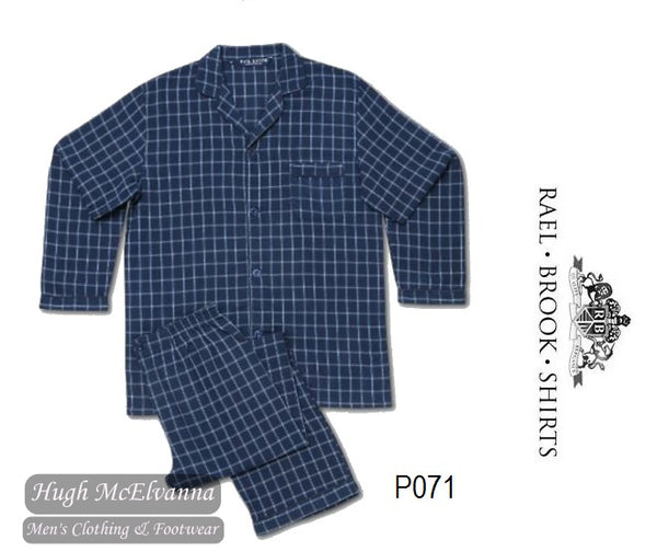 Standard Fit Check Brushed Cotton Pyjama Set by Rael Brook Style: P071