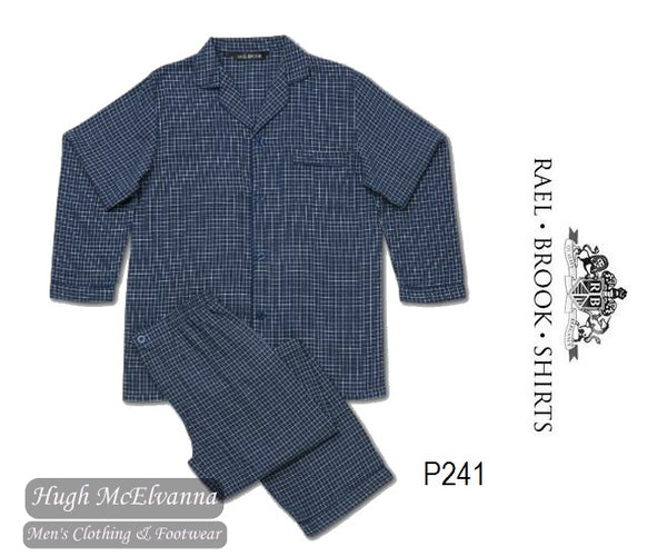 Standard Fit Check Brushed Cotton Pyjama Set by Rael Brook Style: P241
