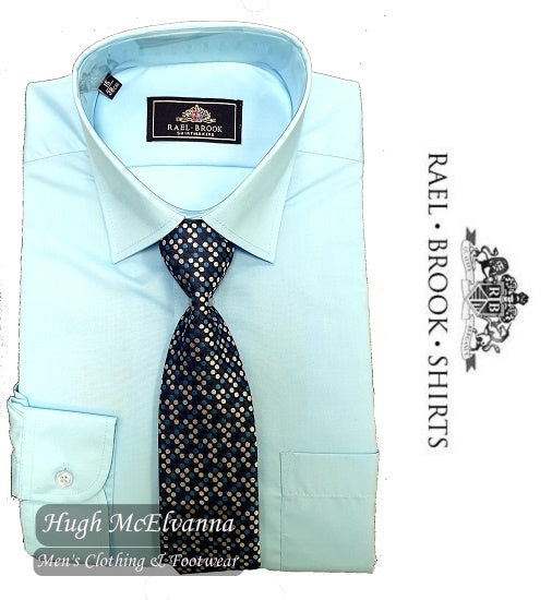 Turquoise Shirt & Tie Set by Rael Brook Style: 8055
