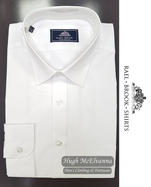 Rael Brook King Size White Long Sleeve Shirt - Hugh McElvanna Menswear