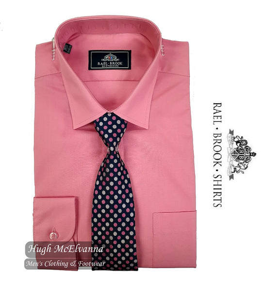 Rose Pink Shirt & Tie Set by Rael Brook Style: 8087/86