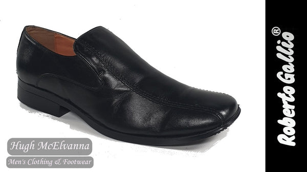 Reberto Gallio Black Fashion Slip On Shoe Style: SH200-1