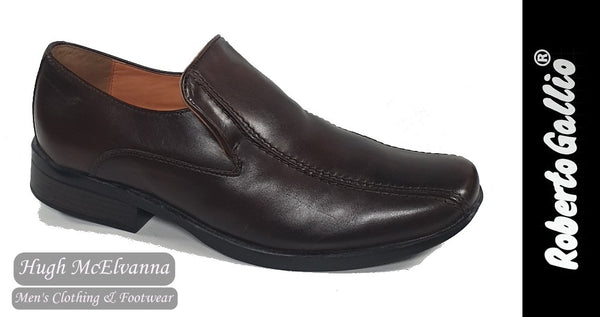Reberto Gallio Brown Fashion Slip On Shoe Style: SH200-1