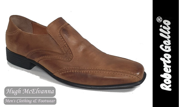Reberto Gallio Tan Fashion Slip On Shoe Style: SH215