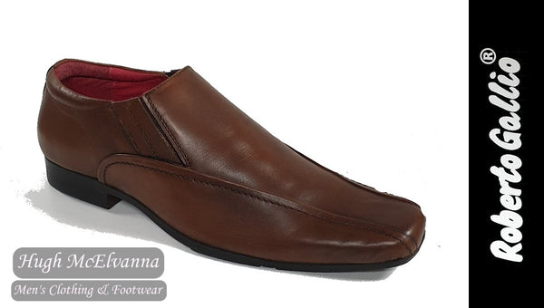 Reberto Gallio Brown Fashion Slip On Shoe Style: SH220