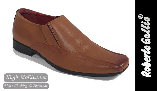 Reberto Gallio Tan Fashion Slip On Shoe Style: SH220