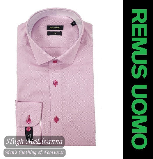 Slim Fit Pink Shirt by Remus Uomo Style: 17693/63