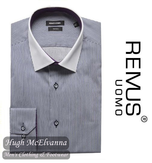 Tapered Fit Navy Fashion Shirt By Remus Uomo Style: 17093W/18