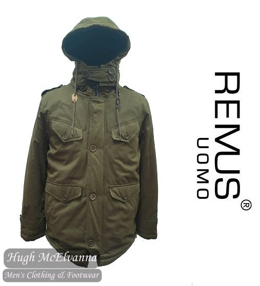 BRENIN Green Parka Casual Coat by Remus Uomo Style: 80175/37