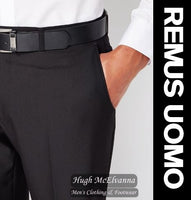 Remus Uomo Black Tapered Fit Trouser Call No:70228/00
