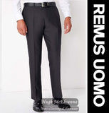 Remus Uomo Charcoal Grey Tapered Fit Trouser Call No:70228/08