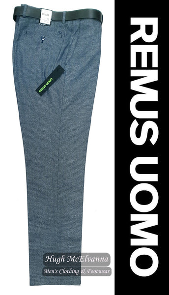 Slim Fit Blue Fashion Trouser by Remus Uomo Call No: 70446/23