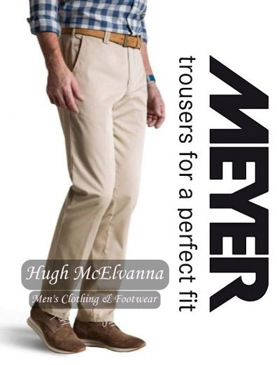Meyer Cream ROMA Trouser Style: 3001/32 - Hugh McElvanna Menswear