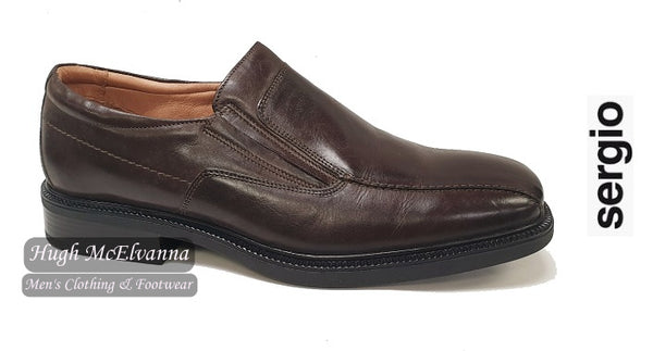 Brown Slip On Shoe by Sergio Style: AD133E