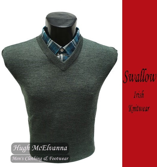 Aqua Green V-Neck Pullover by Swallow Style: 10GG