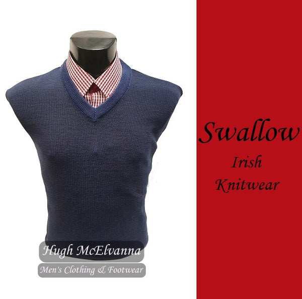 Fashion V-Neck Pullover by Swallow Knitwear - 3 Colour Options
