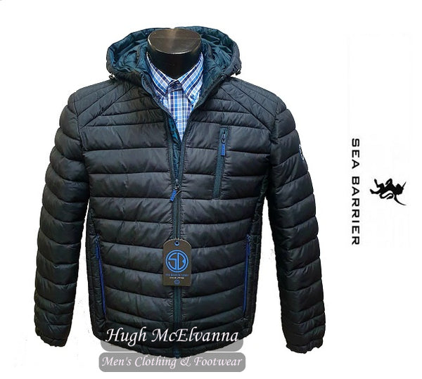 'HIMALAYA'  Navy Wadded Jacket by Sea Barrier