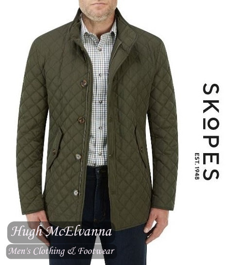 'PEMBRIDGE' Olive Quilted Car Coat by Skopes