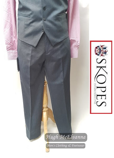 Skopes EDGAR Steel Grey Suit Trouser