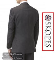 Skopes 3Pc. Wilder Charcoal Grey Birdseye Suit