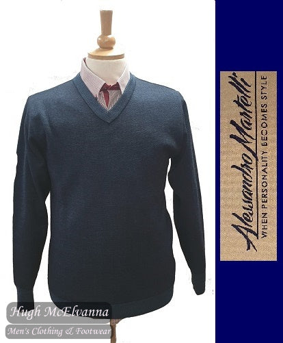 Long Sleeve Blue Pullover by Alessandro Martelli Style: AW20.08