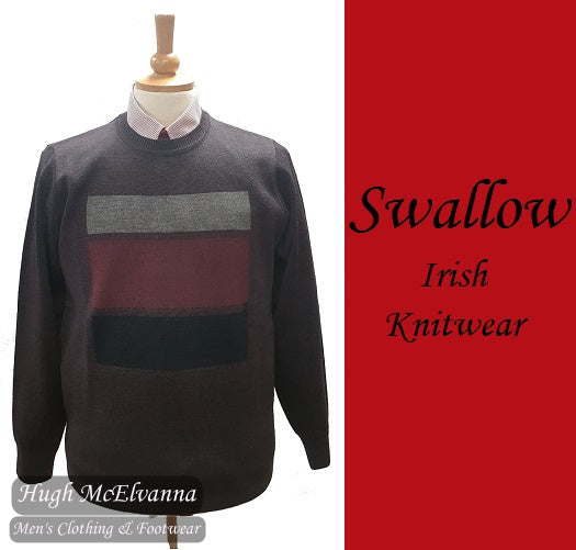 Swallow Purple Round Neck Design Pullover Style: AW20.01RN HEATHER