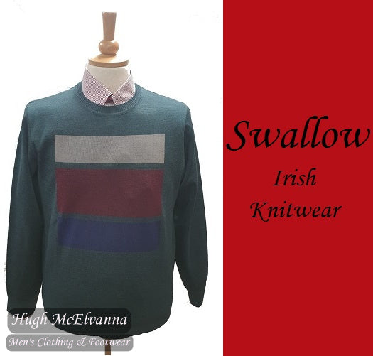 Swallow Green Round Neck Design Pullover Style: AW20.01RN GREEN
