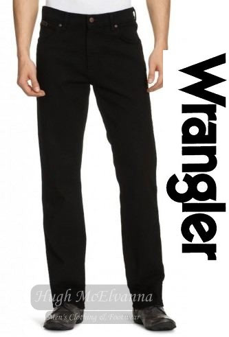 Wrangler REGULAR FIT Style: Texas  Colour: Black Overdye - Hugh McElvanna