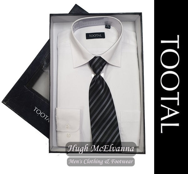 Tootal White Boxed Shirt & Tie Set