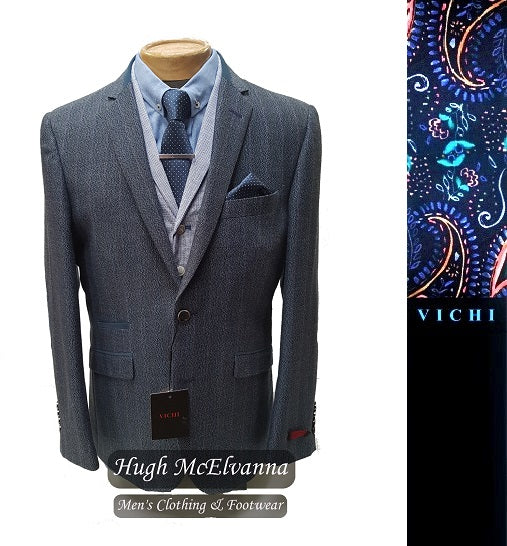 Vichi Fashion Blazer Style: EAMONN Colour: Blue