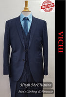 Fashion Navy 3Pc. Suit by Vichi Style: NEIL - Hugh McElvanna Menswear