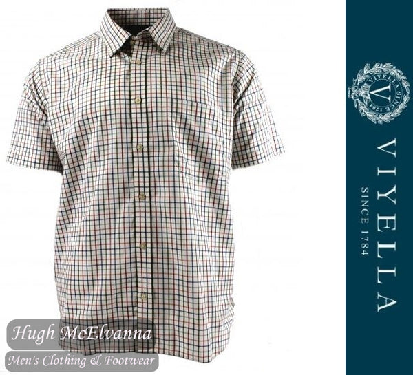 Viyella Short Sleeve Tattersal Check Shirt Style: VY0120H/216