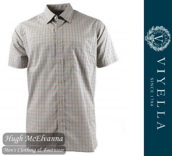 Viyella Short Sleeve Tattersal Mini Check Shirt Style: VY2120H/366