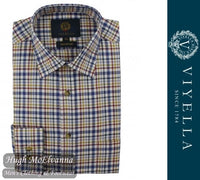 Viyella Long Sleeve Blue Check Shirt Style: VY5827/128