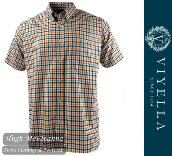 Viyella Short Sleeve Button Down Shirt Style: VY8531HB/291