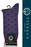 Viyella Spot/Stripe Wool Socks Style: VY9193S#1 - 3 Colour Options Available