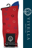 Viyella Circles Wool Socks Style: VY9197S#1 - 3 Colour Options Available