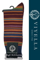 Viyella Stripe Wool Socks Style: VY9198S#2 - 3 Colour Options Available