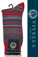 Viyella Fairisle Stripe Wool Socks Style: VY9199S#2 - 3 Colour Options Available