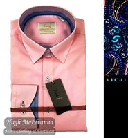 Pink Tailored Fit Shirt by Vichi Style: DW19